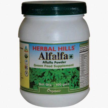 Alfalfa 100 gm Powder Green Food Alfalfa 12
