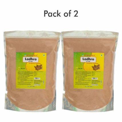 Lodhra Powder - 1 kg powder - Pack of 2, Natural herbal powder for uterine health in bulk pack 15