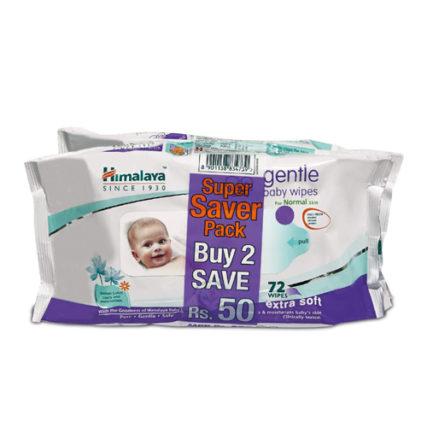 Himalaya Gentle Baby Wipes (72Napkins of 2 Packs) 33