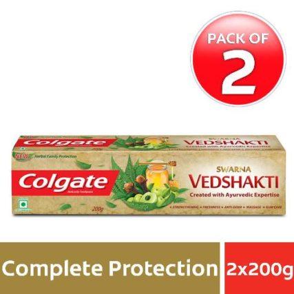 Colgate Swarna Vedshakti Toothpaste - 200gm (Pack of 2) 9